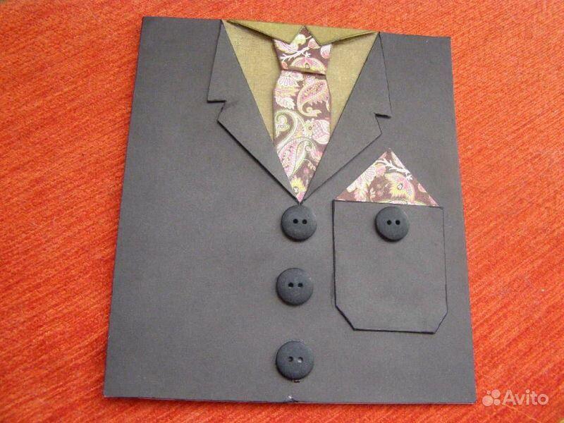 Открытка своими руками для дедушки рубашку