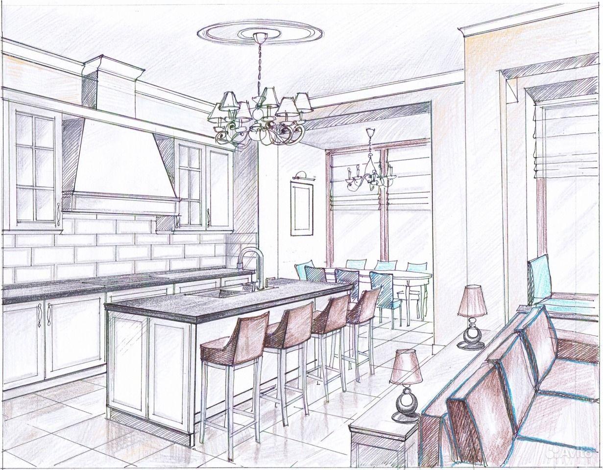 Рисунки дизайн кухни