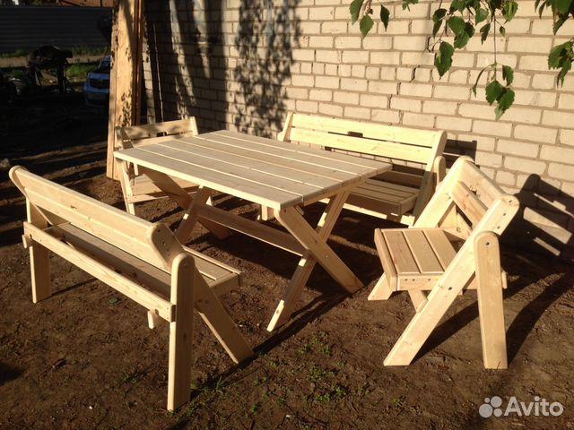 Садовый стол своими руками из дерева чертежи