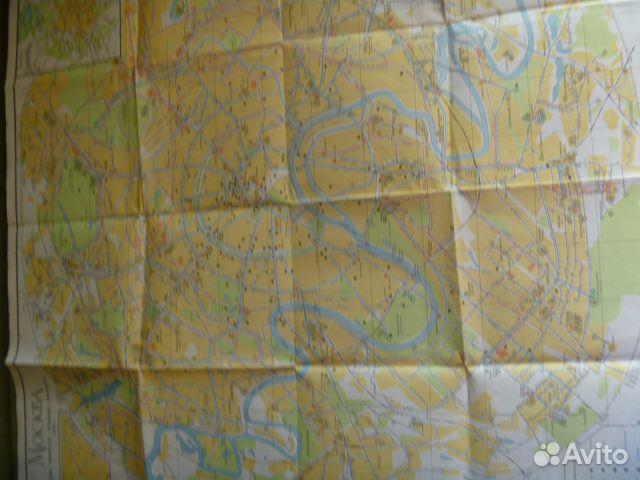 Москва 1972. Схема маршрутов