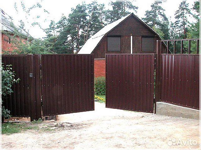 Где в омске купить ворота для дачи как крепить профнастил на ворота видео