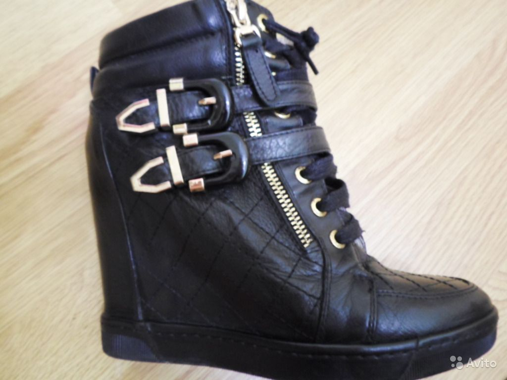 5a5352cf Крутые ботинки-сникерсы на платформе нат. кожа | Festima.Ru ...