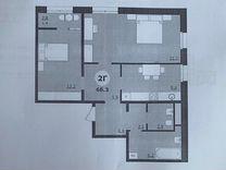 2-к. квартира, 68,3м², 10/12эт.