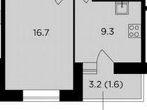 Комната 34,4м² в 1-к., 13/17эт.