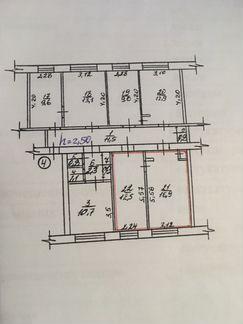 Комната 30 м² в 2-к, 2/4 эт.