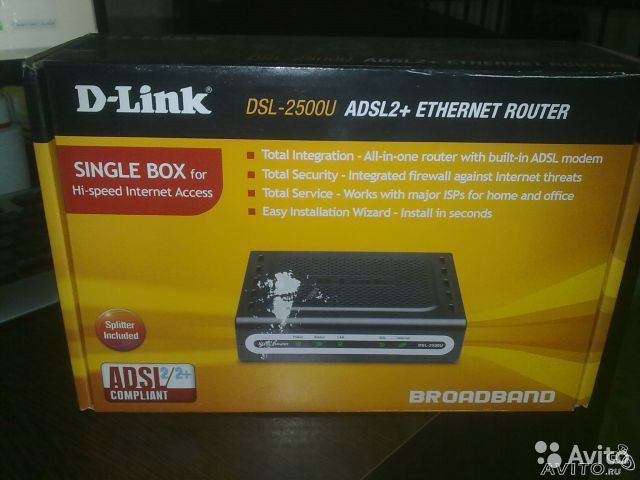 D-Link DSL-2500U adsl+ ethernet router