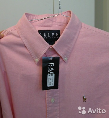 678073abeb0f Ralph Lauren розовая рубашка, 50-52 купить в Москве на Avito ...
