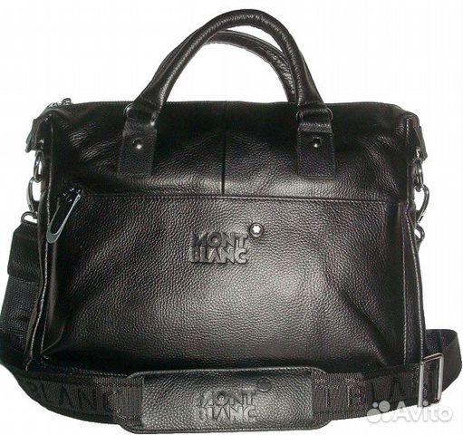f311651ed74d Мужская кожаная сумка Montblanс New мужские сумки купить в Москве на ...