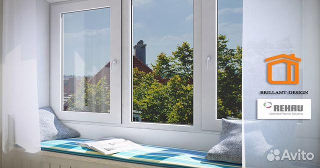 Трехстворч окно rehau brillant 1,6x1,4 г. реутов купить в мо.