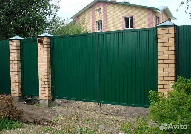 ворота откатные из профнастила цены в челябинске