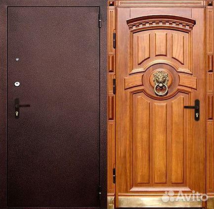 входная железная дверь с установкой с порошковым покрытием цены