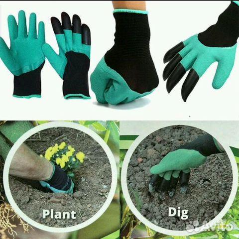 Перчатка для работы в саду с когтями