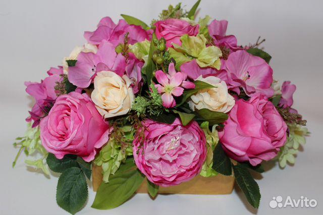 Купить искусственные цветы купчино разноцветные розы купить харьков