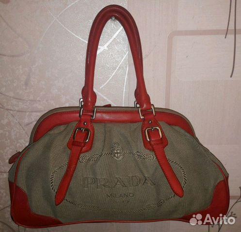 fabb3b339f38 Кожаная сумка Prada. Италия. Оригинальный дизайн   Festima.Ru ...