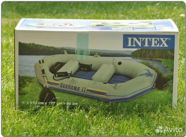 Надувная лодка intex seahawk 2 set купить