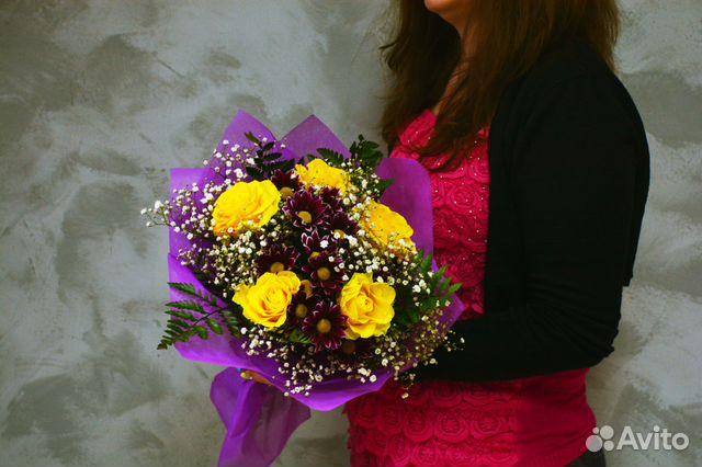 Как собрать букет из роз и хризантем — photo 13