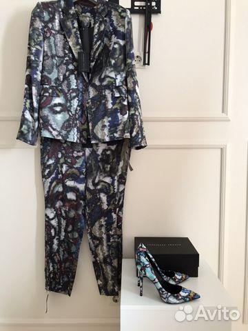 38d5b913393a Theory шёлковый брючный костюм и туфли лодочки купить в Москве на ...