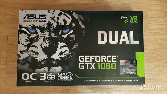 Видеокарта Asus Nvidia GTX 1060 3GB OC VER 89040042358 купить 1