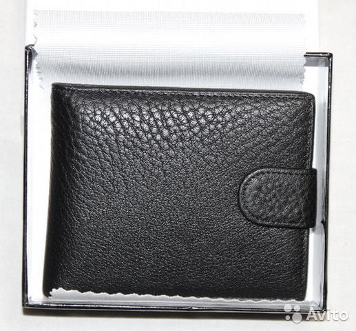 d33d90f14738 Мужской кожаный кошелек без брэнда black новый купить в Москве на ...