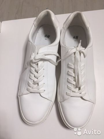11a2c5f1f569 Кроссовки-кеды белые женские h&m 40,5 размер