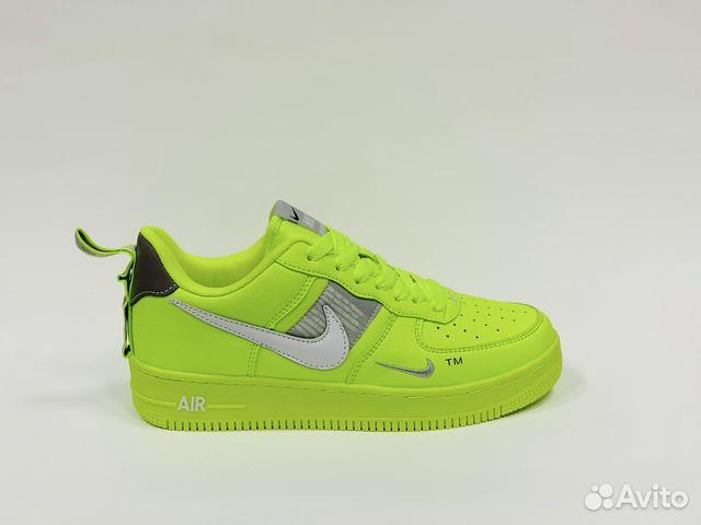 fdba5527 Кроссовки Nike Air Force low салатовые мужские кис купить в Москве ...