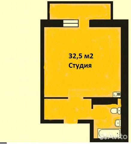Продается квартира-cтудия за 2 050 000 рублей. ул Верхнетарманская, 5.