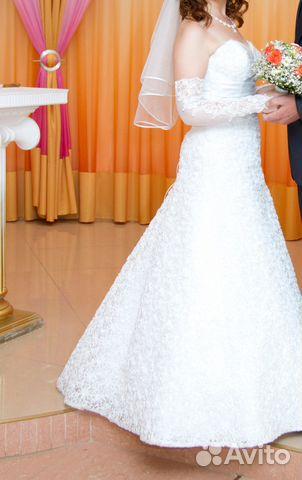 Свадебное платье размер 44 89525543855 купить 3