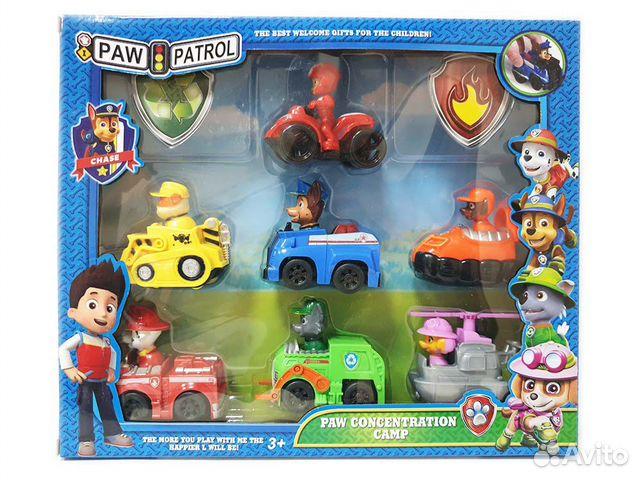 Набор щенячий патруль на машинке 7 игрушек