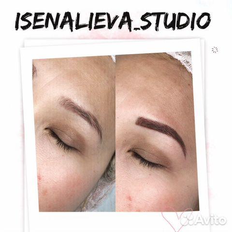 Перманентный макияж бровей (татуаж)  89275558544 купить 3