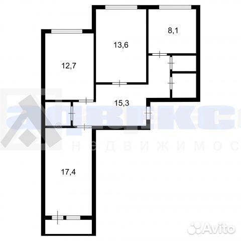 3-к квартира, 74.6 м², 5/7 эт. 88123225200 купить 2