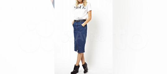 3dc6b26cad5 Zara джинсовая юбка миди карандаш черная купить в Москве на Avito —  Объявления на сайте Авито
