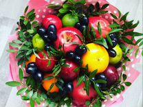 Съедобные букеты из фруктов,овощей,колбас