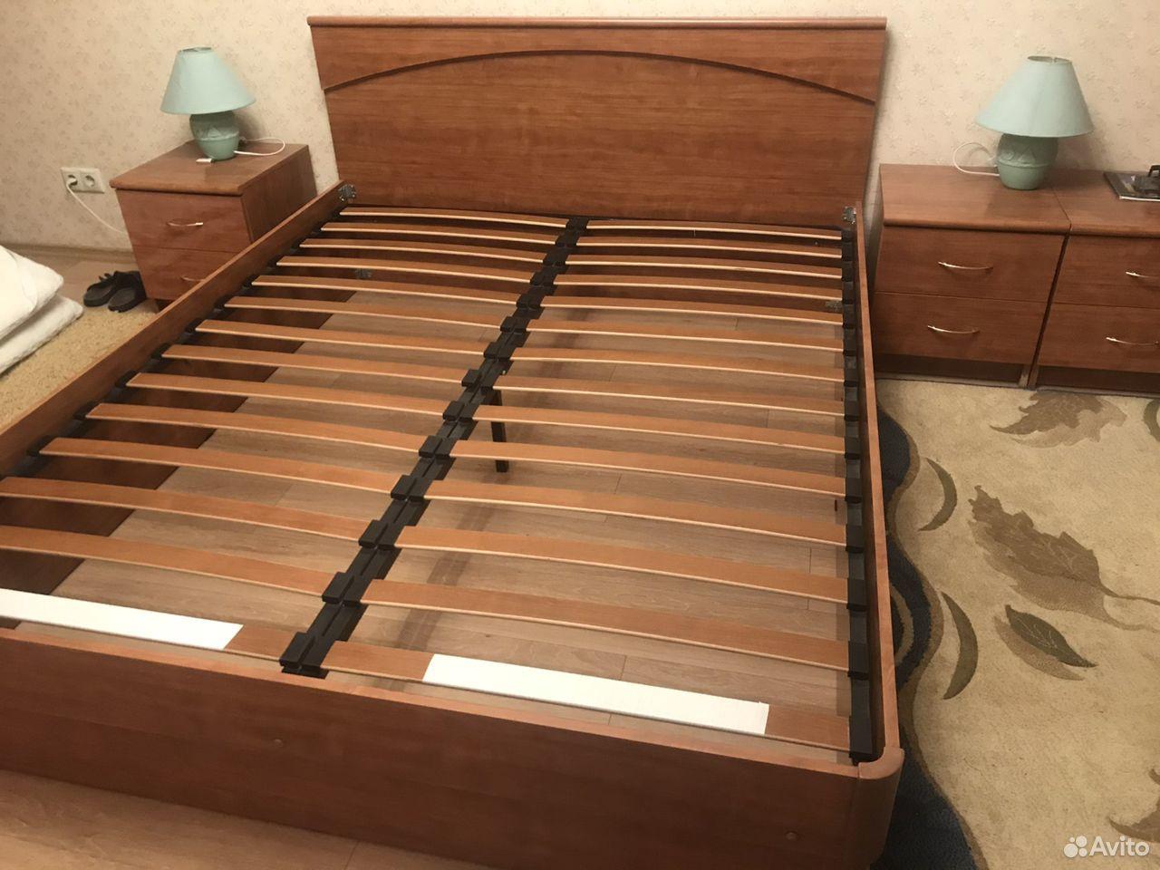 Кровать двуспальная с прикроватными тумбами  89039082198 купить 1
