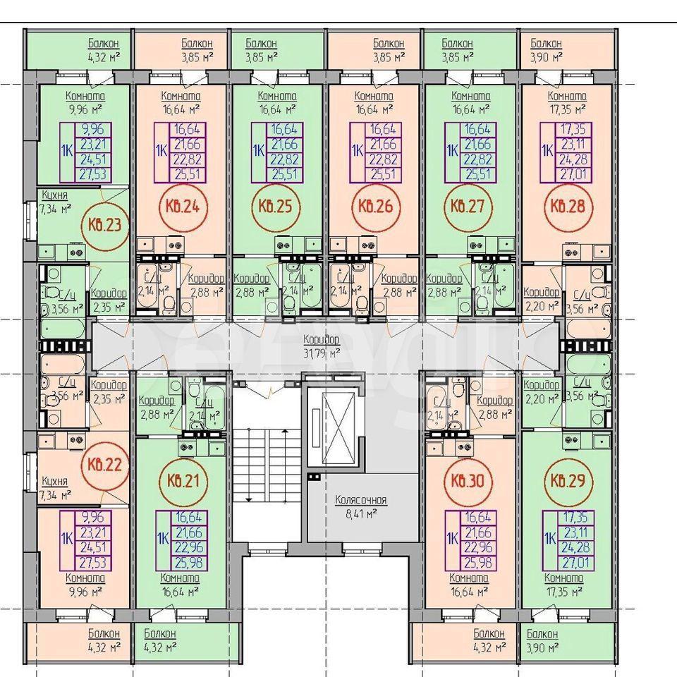 Квартира-студия, 25.5 м², 5/8 эт.