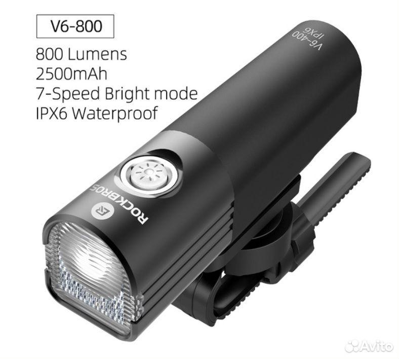 Велосипедный фонарь rockbros V6-800 89114539100 купить 3