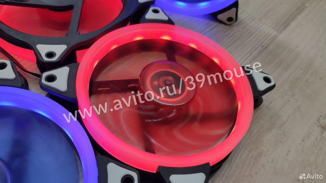 Кулер вентилятор с подсветкой RGB новые 120мм  89216108390 купить 4