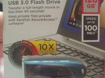 USB flash SanDisk Ultra sdcz48 128 Гб новая