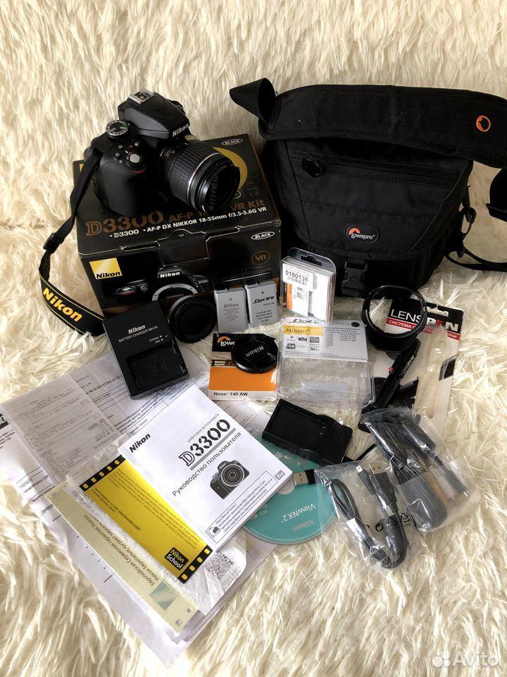 Фотоаппарат Nikon D3300AF-P 18-55VR Kit зеркальный  89177610980 купить 1