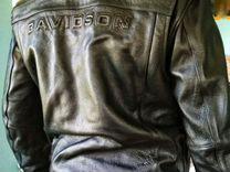 Кожанная мотокуртка Harley Davidson Размер L