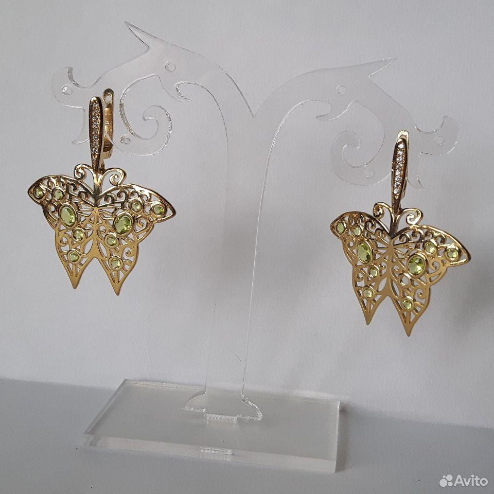 Серьги с драгоценными камнями  89112231871 купить 2
