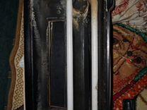 Аквариум с крышкой, лампами и задним фоном