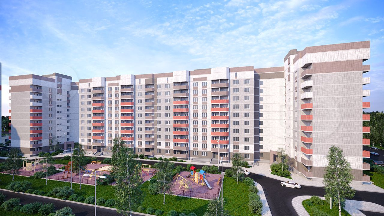 2-к квартира, 57.7 м², 4/10 эт.