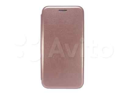 Чехол-книжка для huawei P20 Plus business розовое золото