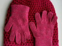 Шапка crochet beanie, Adidas + перчатки
