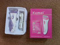 Перезаряжаемая женская бритва-триммер kemei 3018