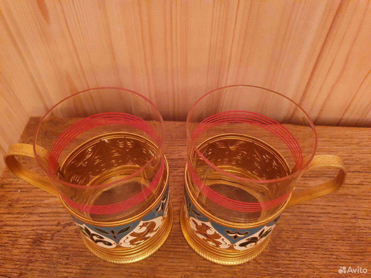 Подстаканник со стаканами, эмаль  89852004478 купить 2